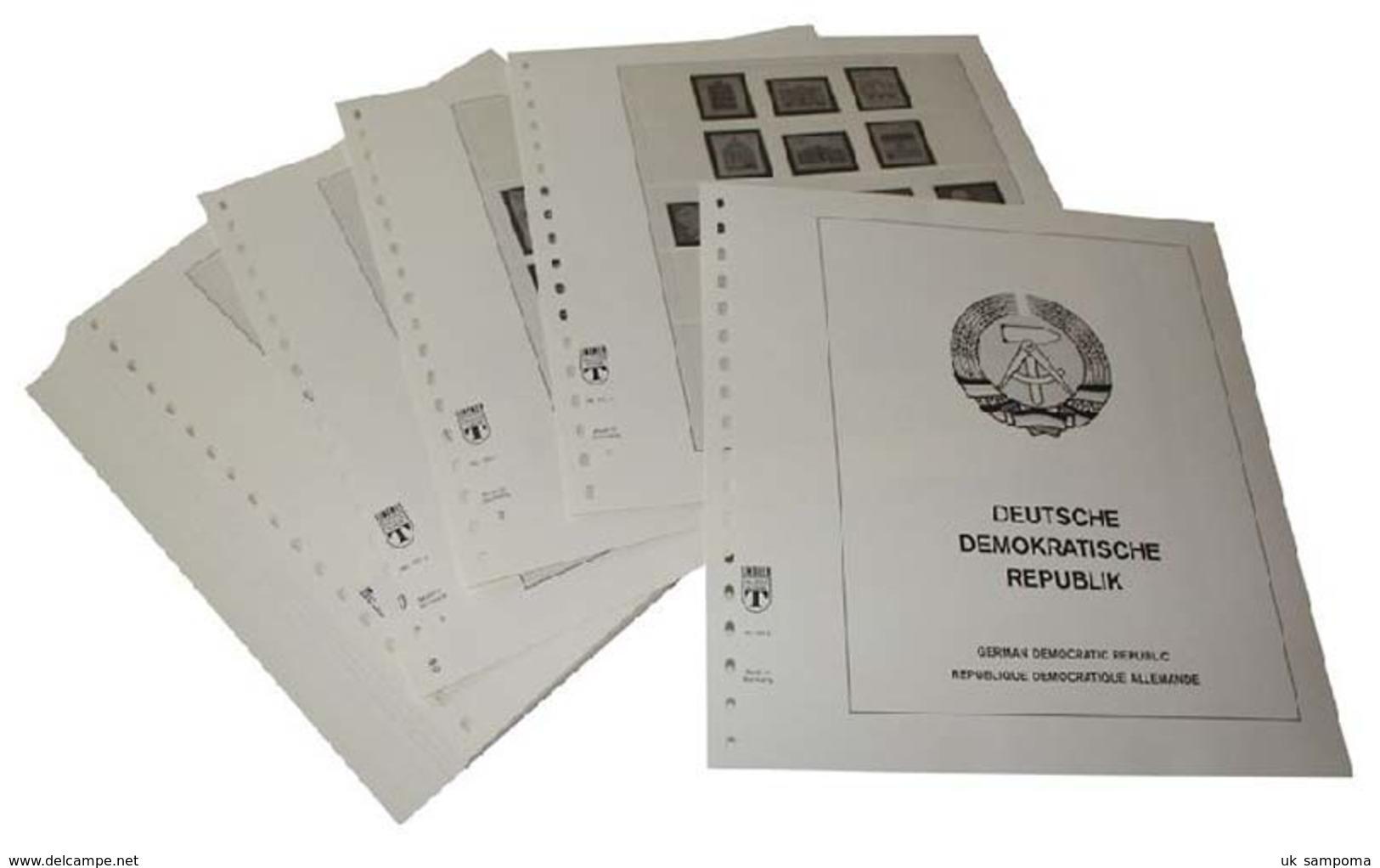 Lindner 121 Germany Complete Offer East Germany GDR - Illustrated Album Pages Year 1949-1990 - Albums & Binders