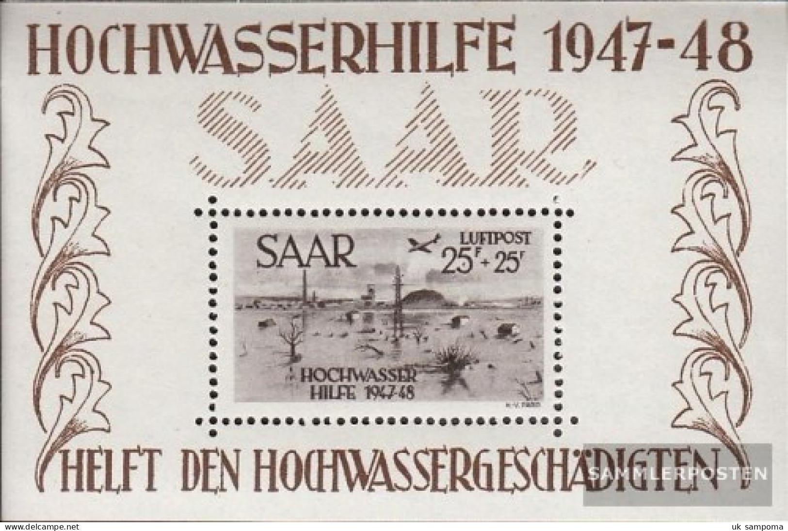 Saar Block2 Unmounted Mint / Never Hinged 1948 Flood Relief - Blocks & Sheetlets