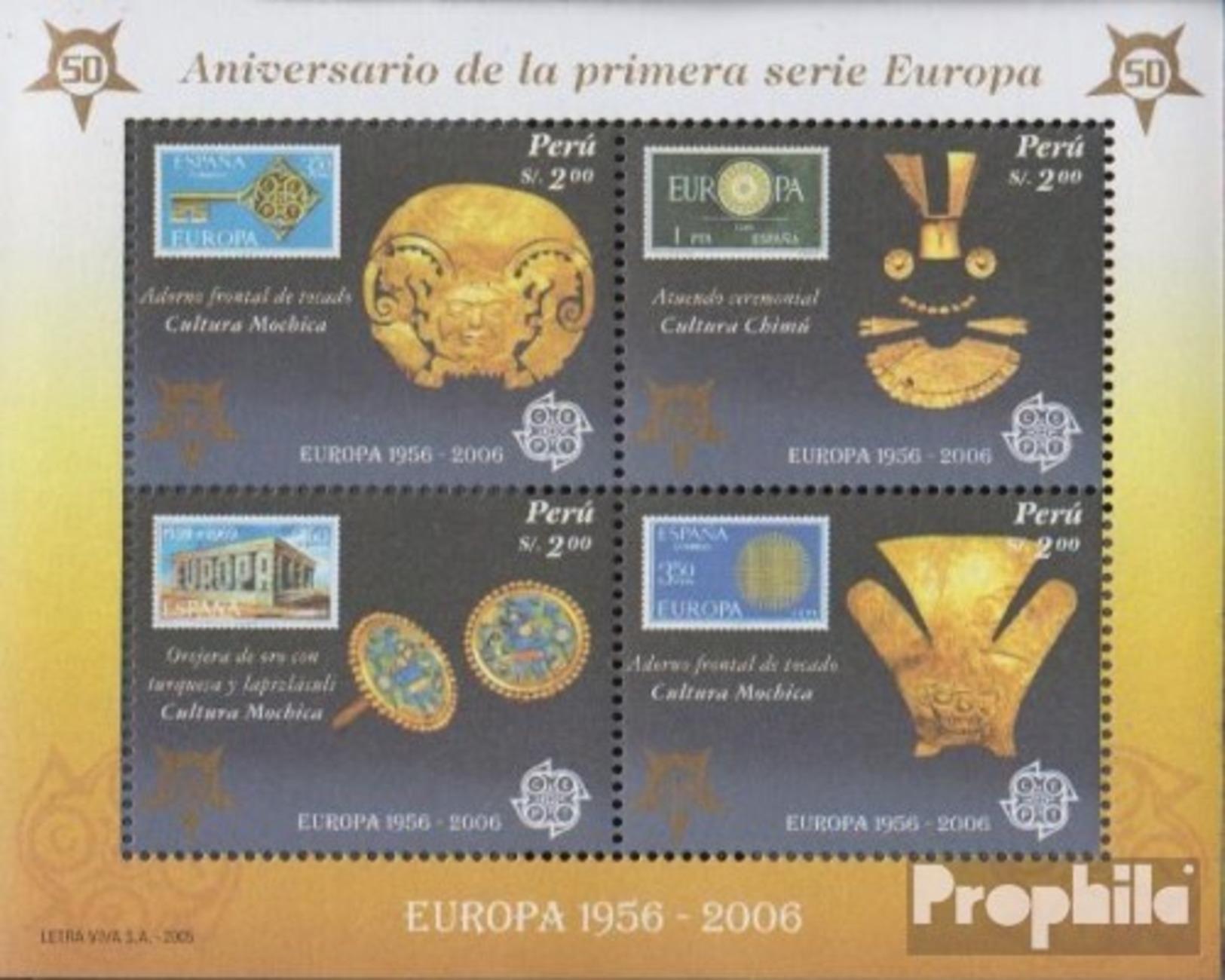 Peru Block 32 (completa Edizione) MNH 2005 50 Anni Europe Trade - Perú