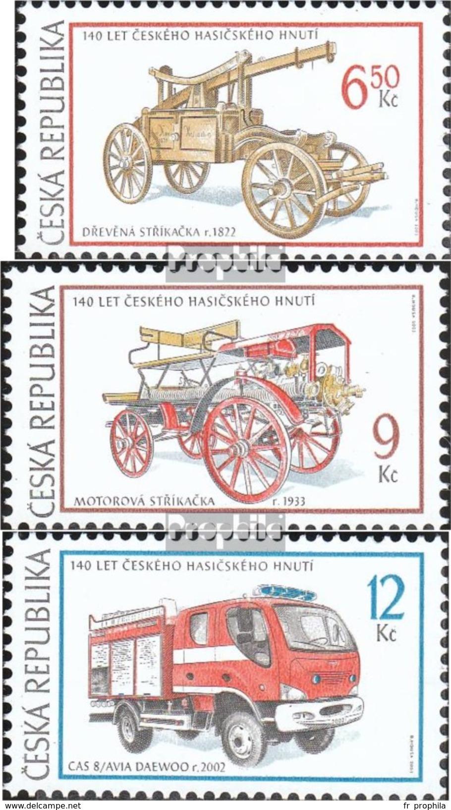 République Tchèque 371-373 (complète.Edition.) Neuf Avec Gomme Originale 2003 Sapeurs-pompiers - Neufs