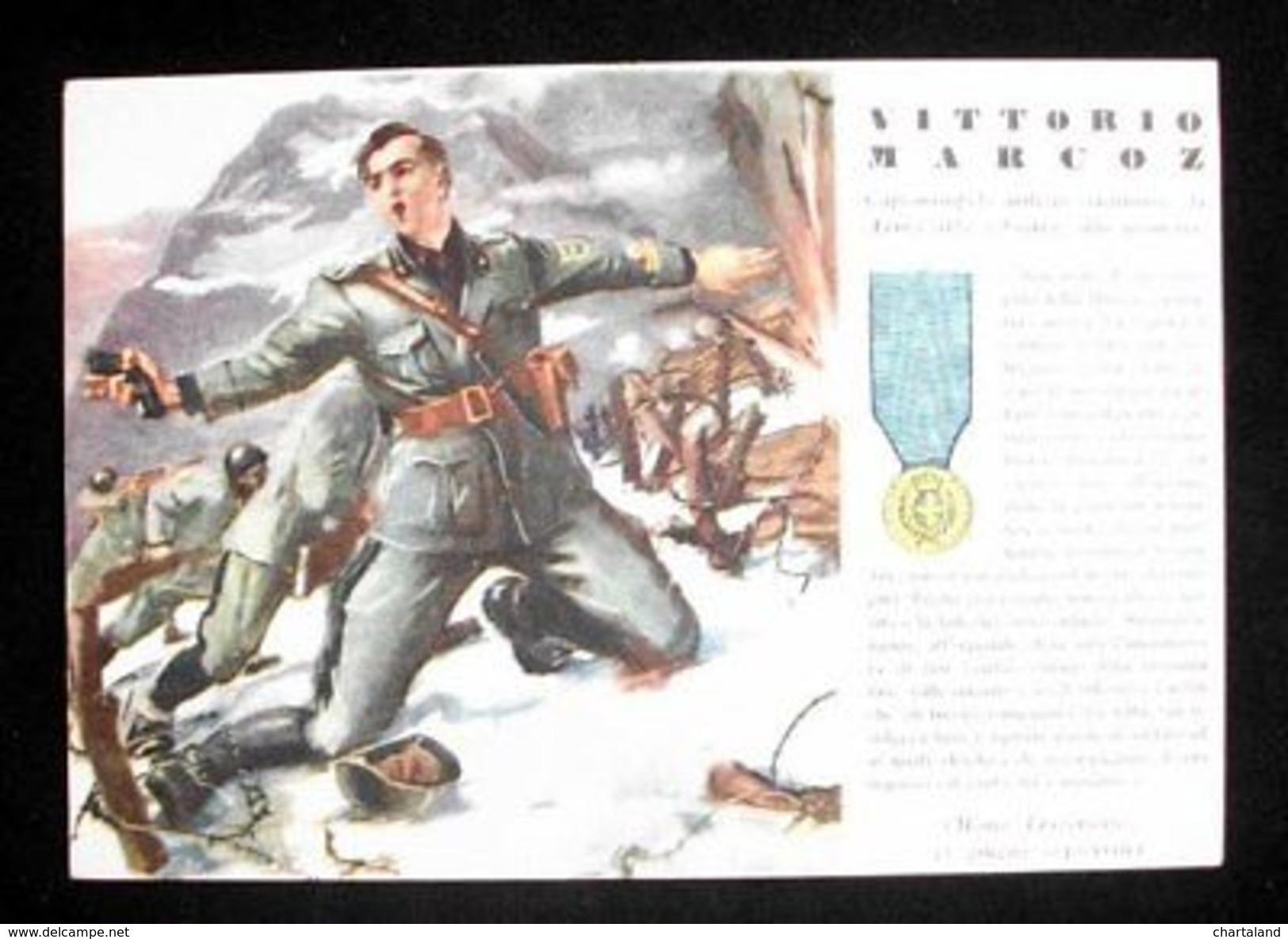 WWII Cartolina - Medaglie D' Oro Guerra 1940 - Marcoz - Altri