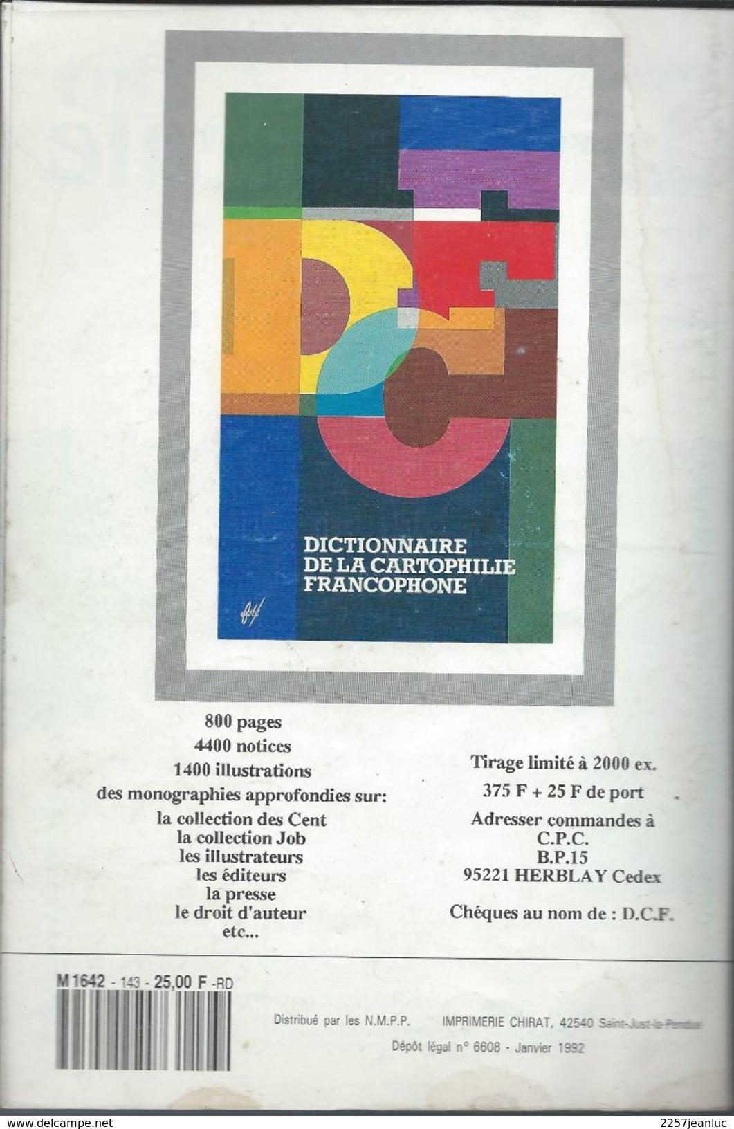 Cartes Postales Et Collections Janvier 1992  Magazines N: 143 Llustration &  Thèmes Divers 98 Pages - Français