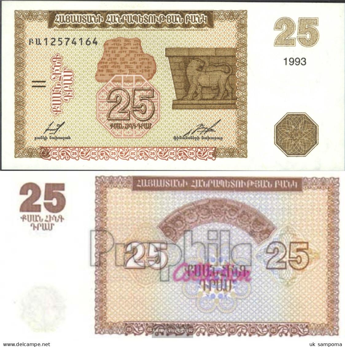Armenia 34 Uncirculated 1993 25 Drams - Armenia