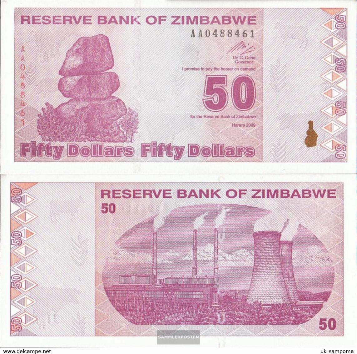 Zimbabwe Pick-number: 96 Uncirculated 2009 50 US Dollars - Zimbabwe