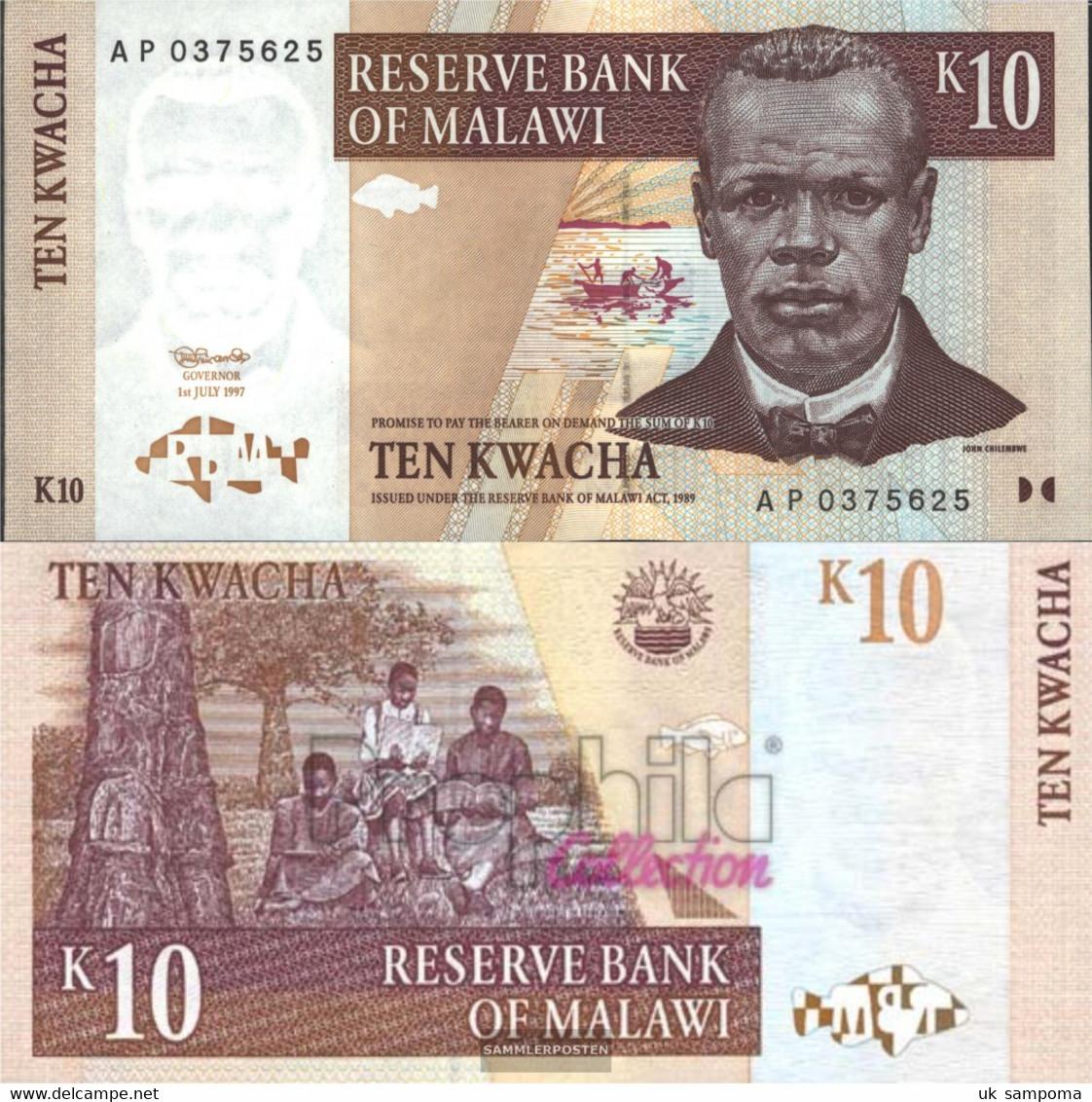 Malawi Pick-number: 37 Uncirculated 1997 10 Kwacha - Malawi