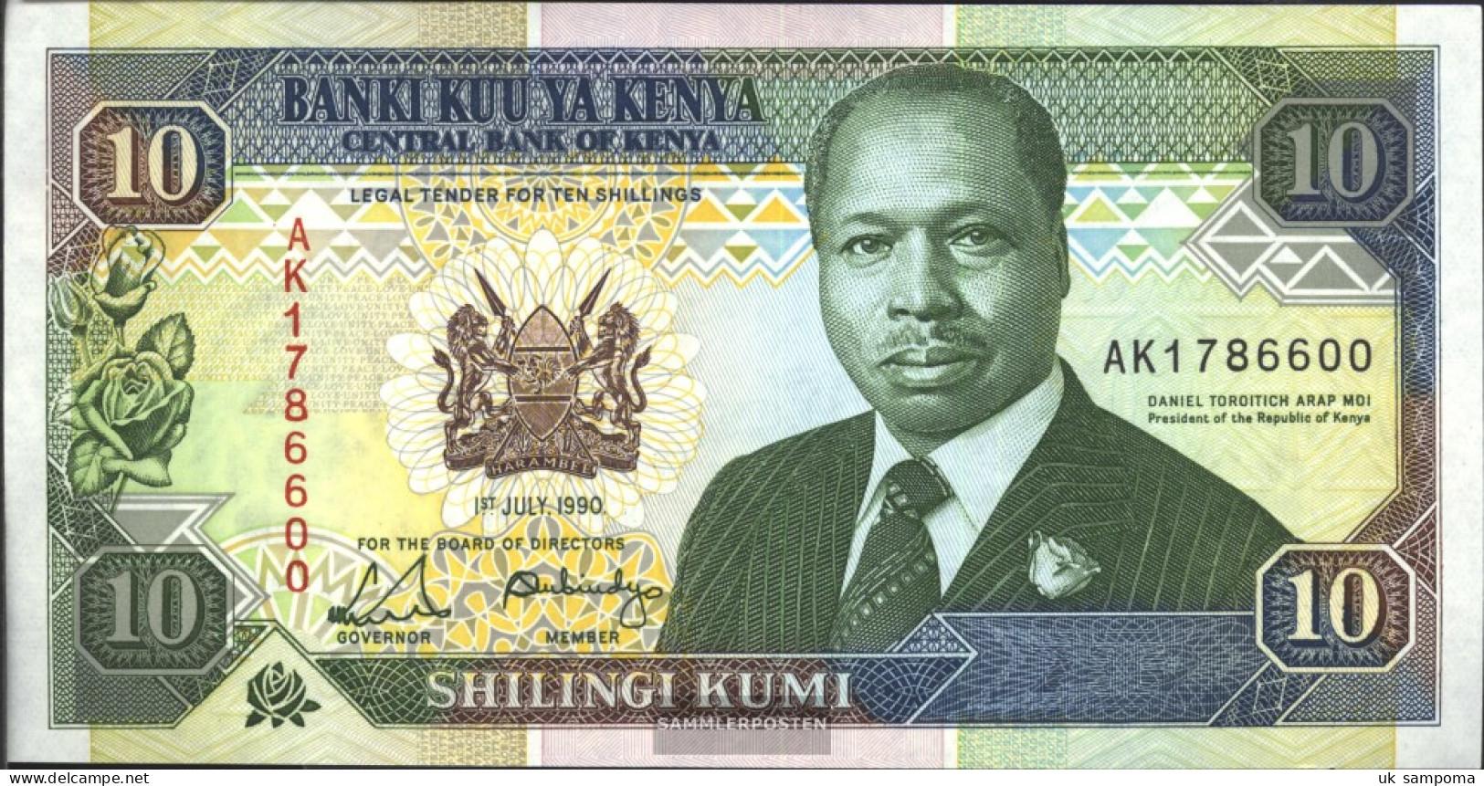 Kenya Pick-number: 24b Uncirculated 1990 10 Schillings - Kenia