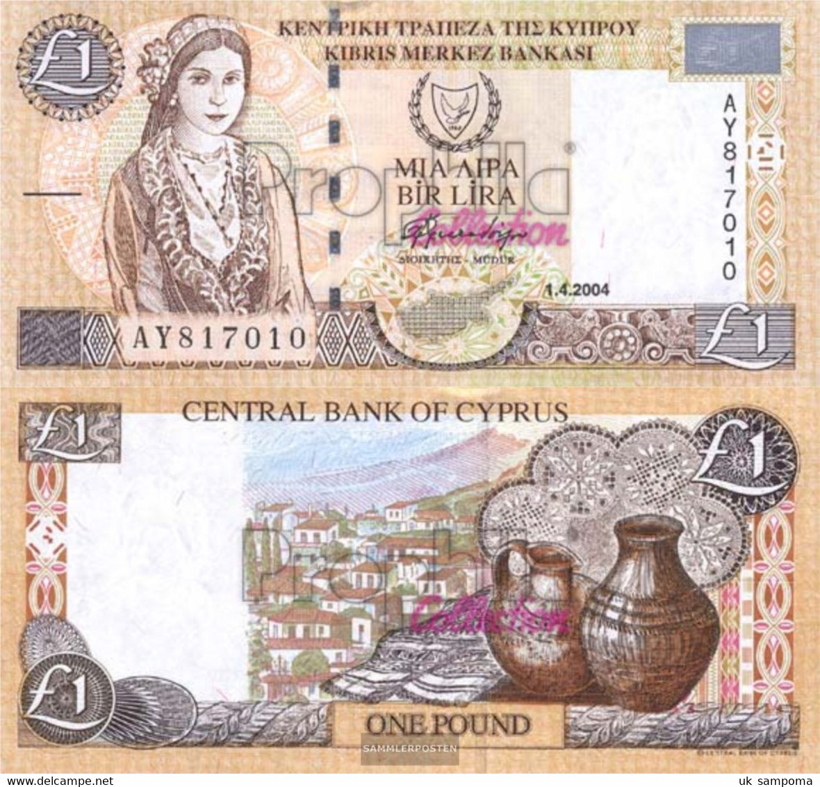 Cyprus Pick-number: 60d Uncirculated 2004 1 Pound - Cyprus