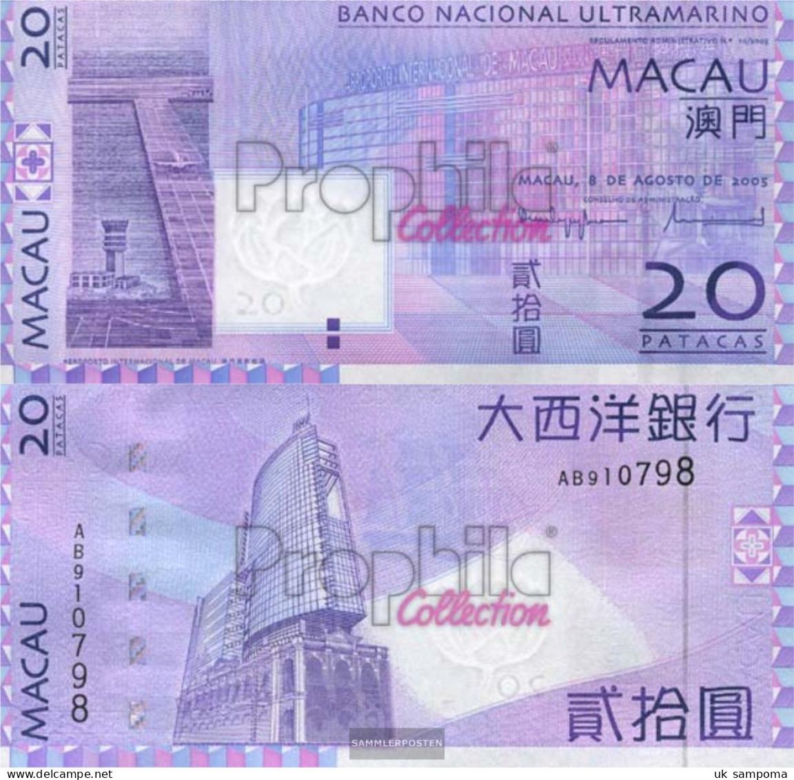 Macao Pick-number: 81 Uncirculated 2005 20 Patacas - Macau