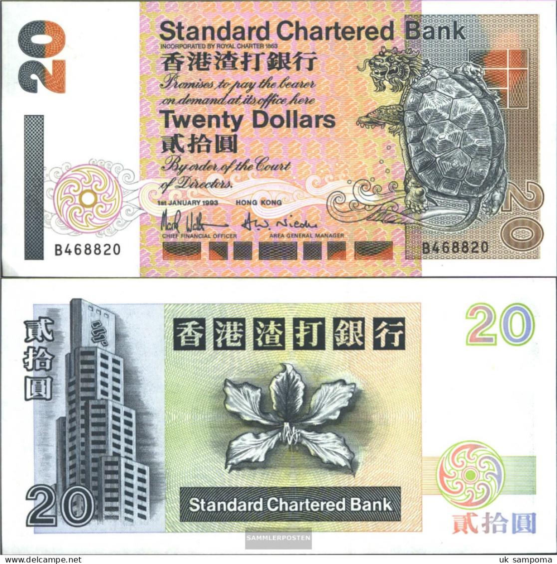 Hong Kong Pick-number: 285a Uncirculated 1993 20 Dollars - Hong Kong