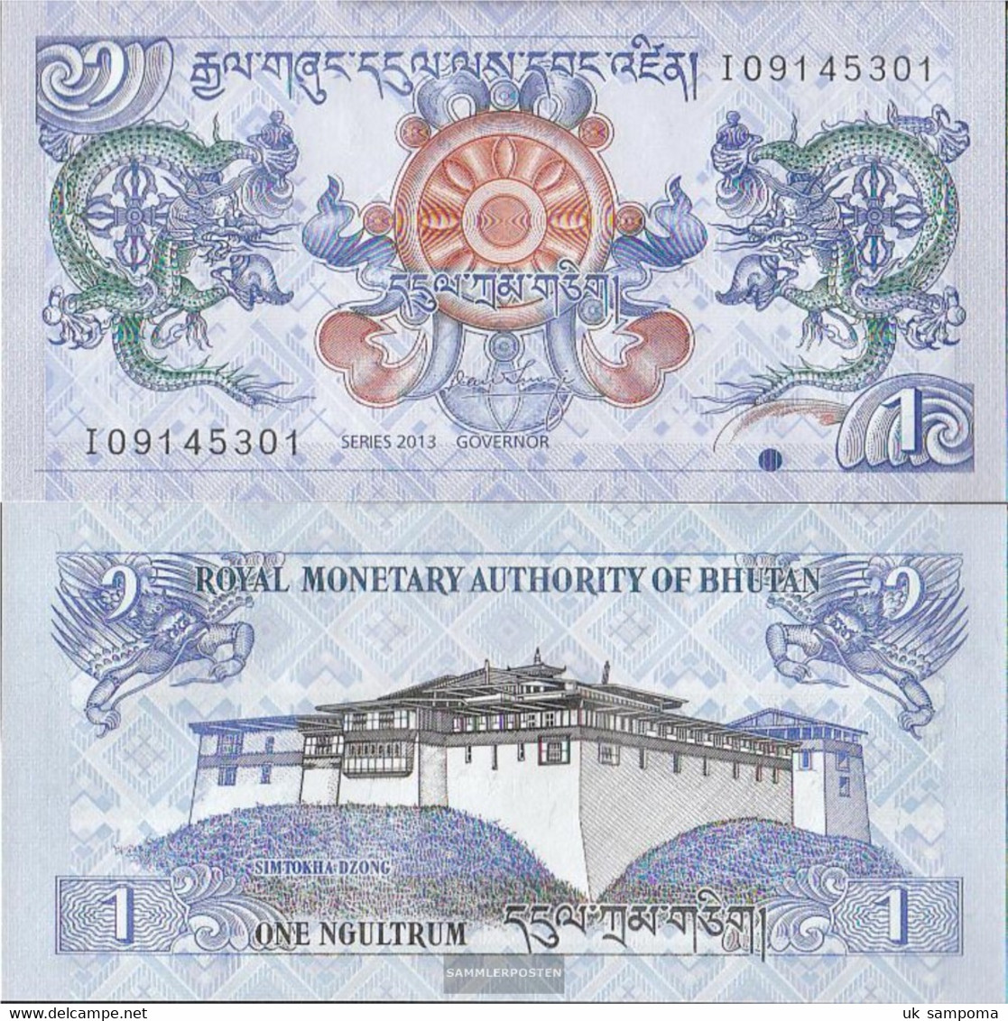 Bhutan Pick-number: 27b Uncirculated 2013 1 Ngultrum - Bhutan