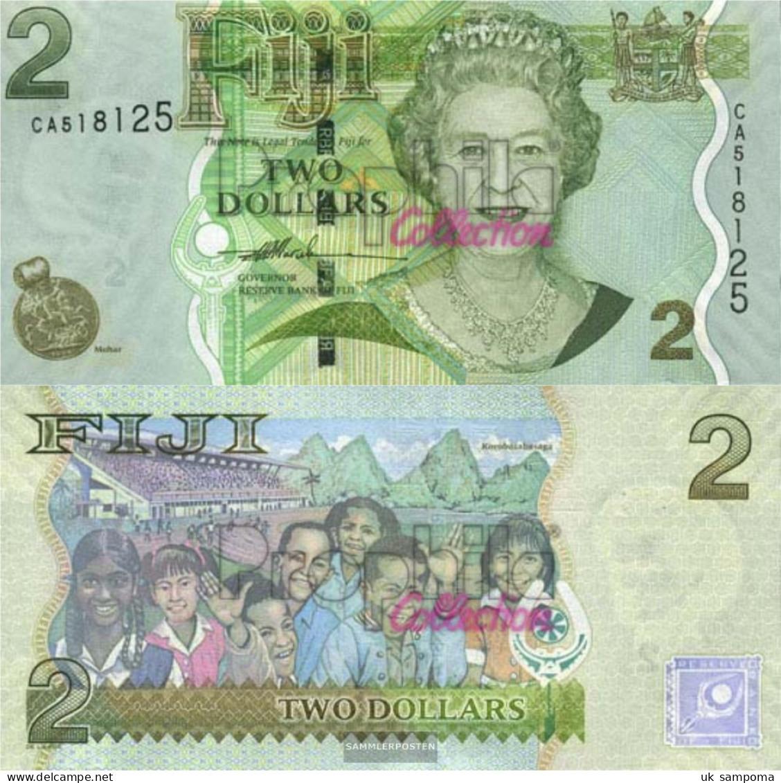 Fiji-Islands Pick-number: 109a Uncirculated 2007 2 Dollars - Fiji