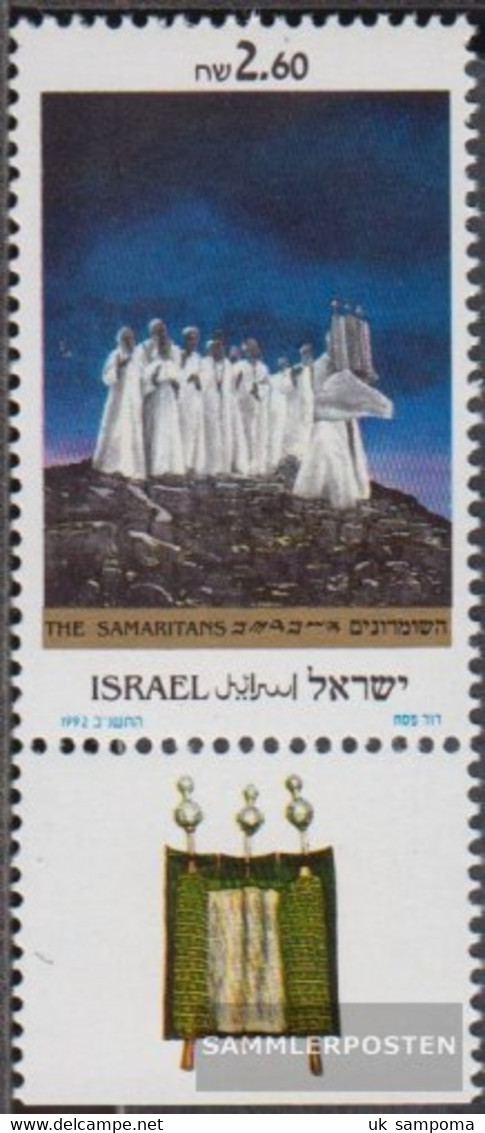 Israel 1211 With Tab (complete Issue) Unmounted Mint / Never Hinged 1992 The Samaritaner - Unused Stamps (with Tabs)