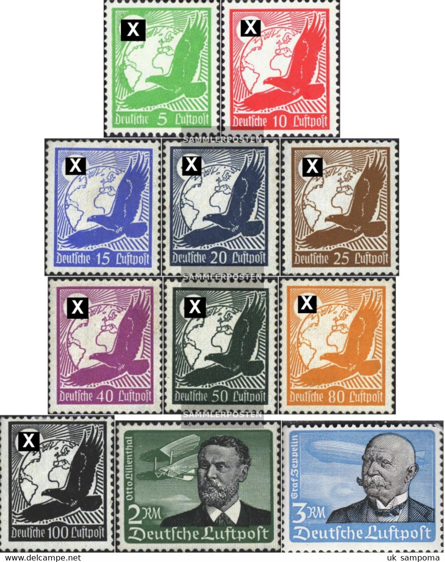 German Empire 529x-539x (complete Issue) Unmounted Mint / Never Hinged 1934 Airmail - Germany