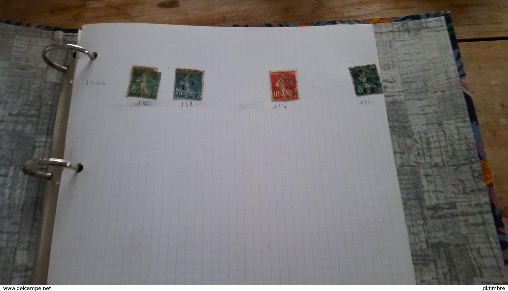 LOT 376856 ALBUM TIMBRE DE FRANCE  PORT A 10 EUROS - Stamps