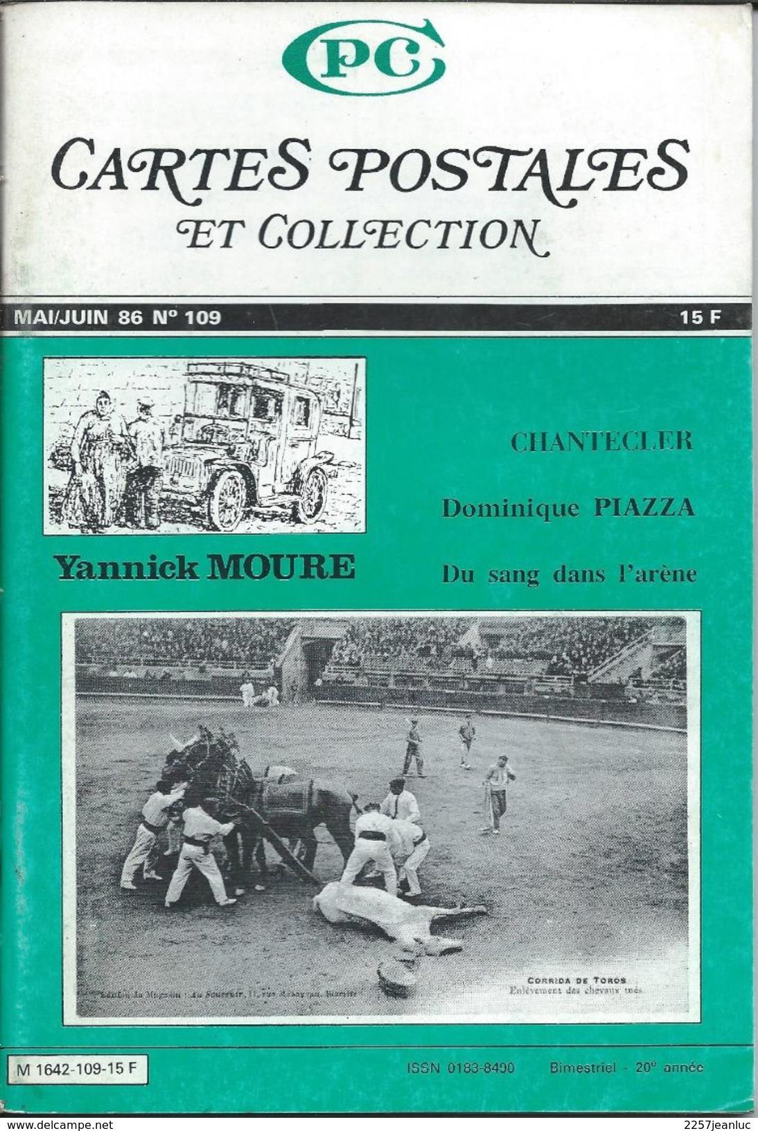 Cartes Postales Et Collections Juin 1986   Magazines N: 109 Llustration &  Thèmes Divers 98 Pages - Français