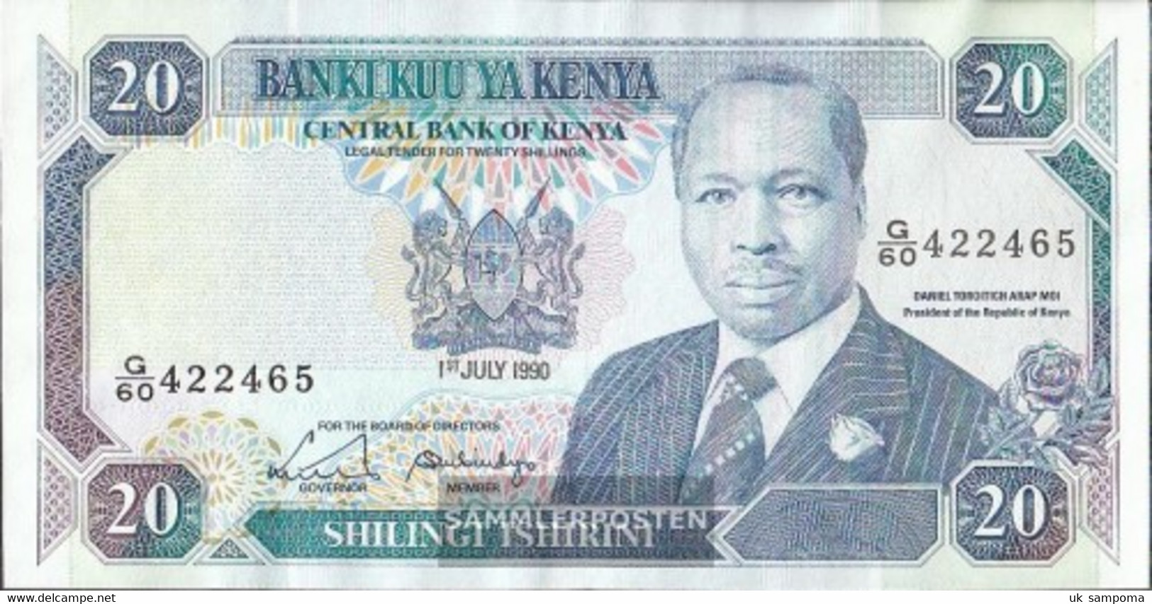 Kenya Pick-number: 25c Uncirculated 1990 20 Schillings - Kenya