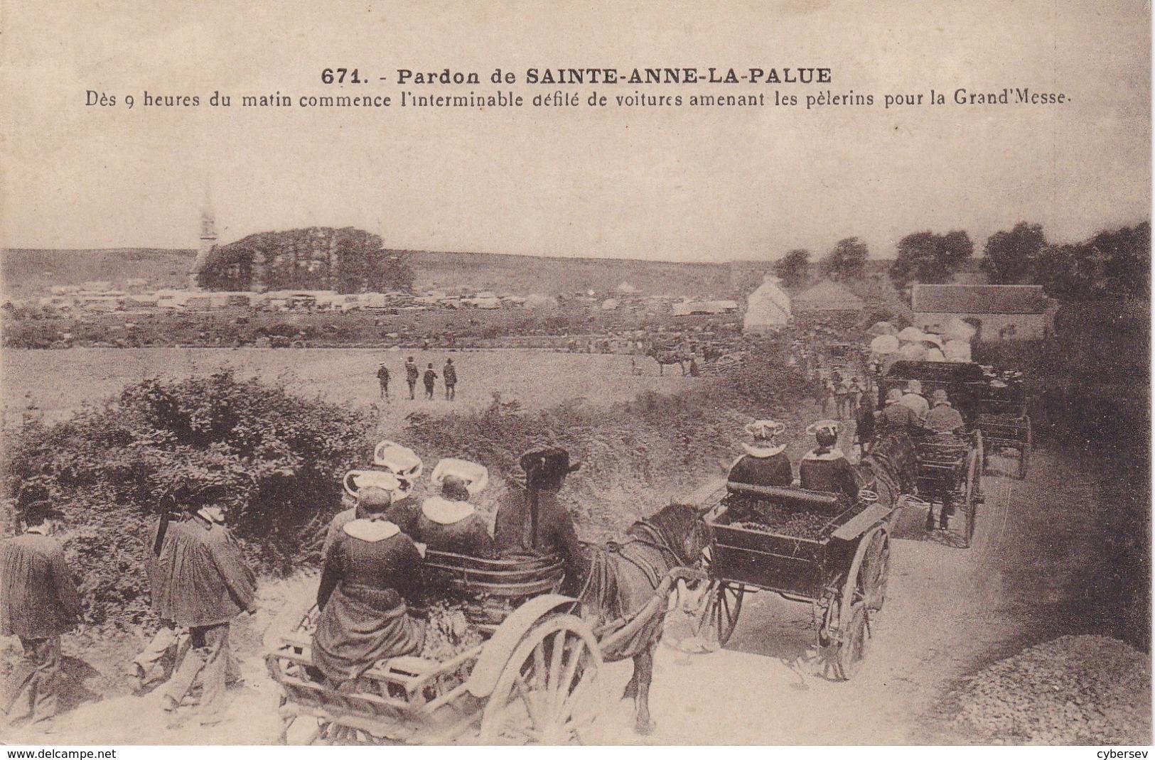 SAINTE-ANNE-LA-PALUD - Pardon - Dès 9 Heures Du Matin Commence L'interminable Défilé De Voitures... TBE - France