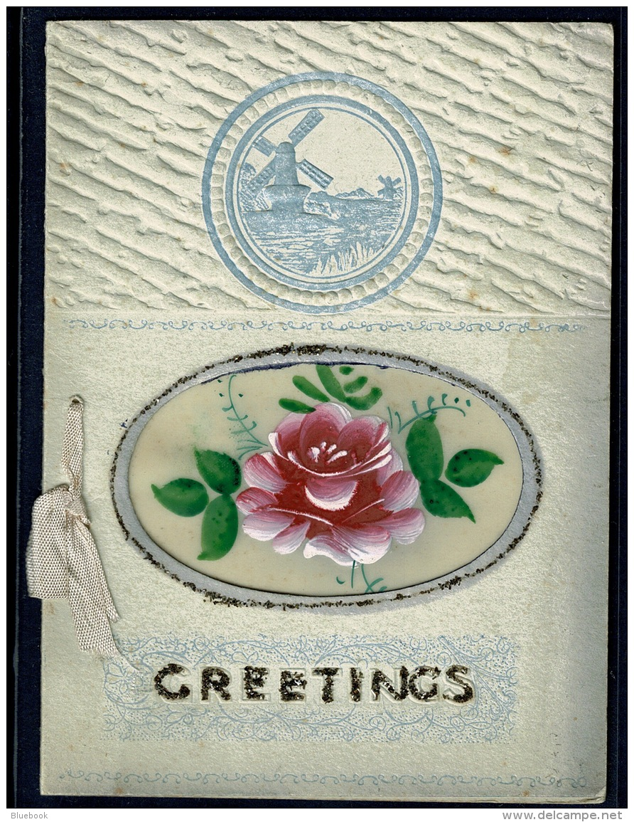 RB 1180 -  Early Birthday Greetings Card - Windmill & Flowers - Other Collections