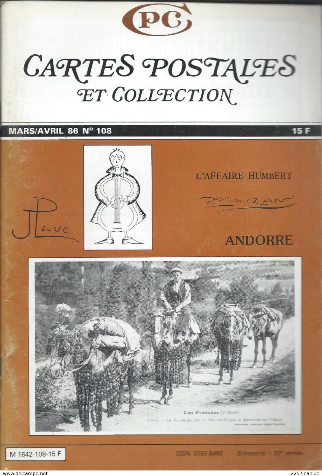 Cartes Postales Et Collections Avril 1986  Magazines N: 108 Llustration &  Thèmes Divers 105 Pages - Français