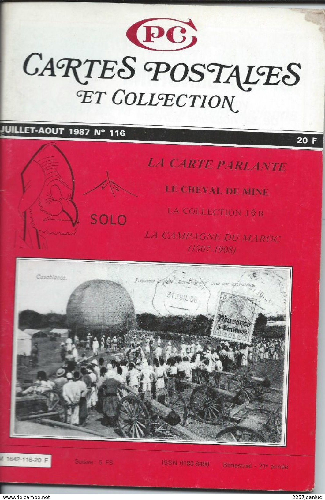 Cartes Postales Et Collections Aout 1987  Magazines N: 116 Llustration &  Thèmes Divers 100 Pages - Français