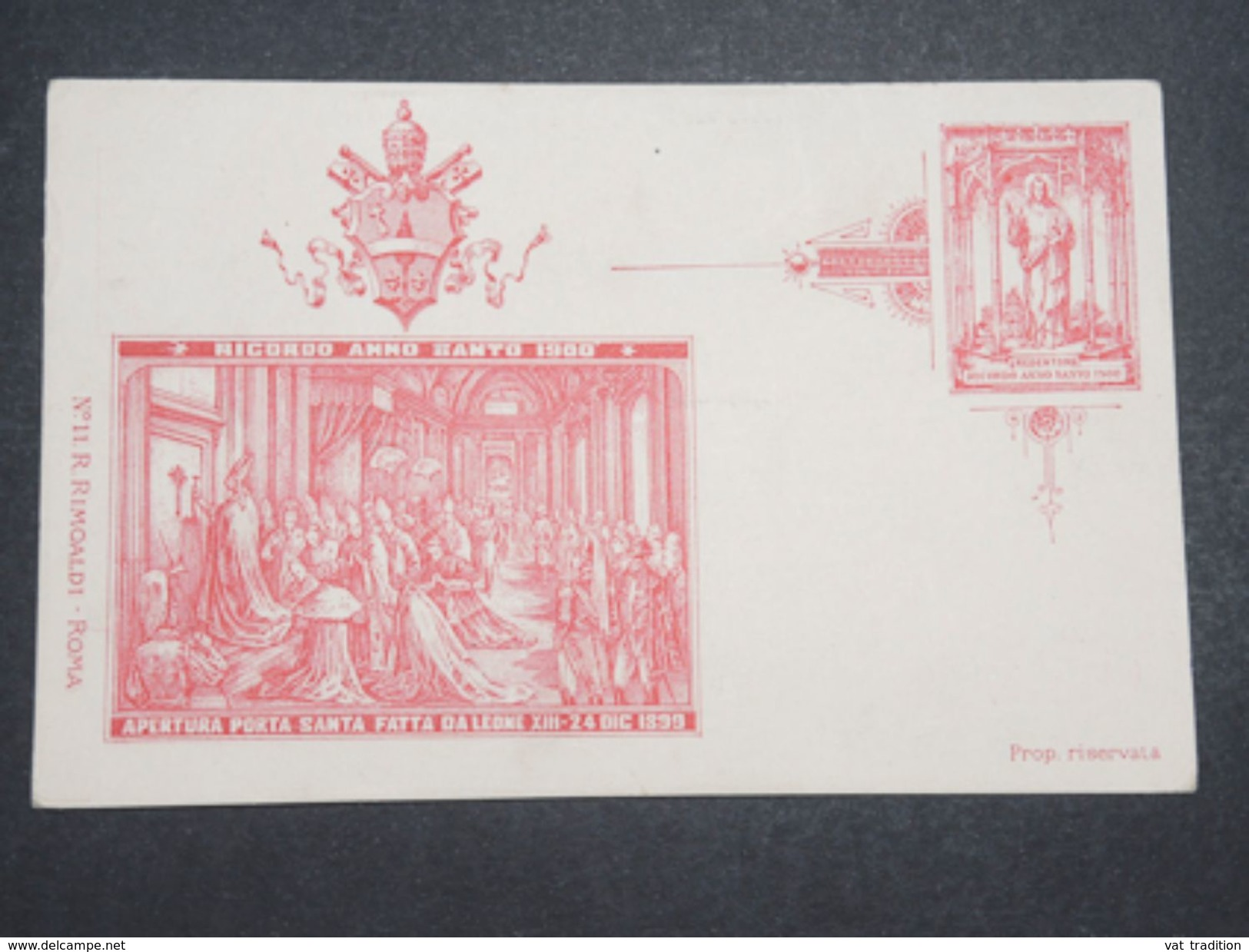 VATICAN - Entier Postal Illustré ( Pseudo ) En 1900 Non Voyagé - L 10423 - Vatican