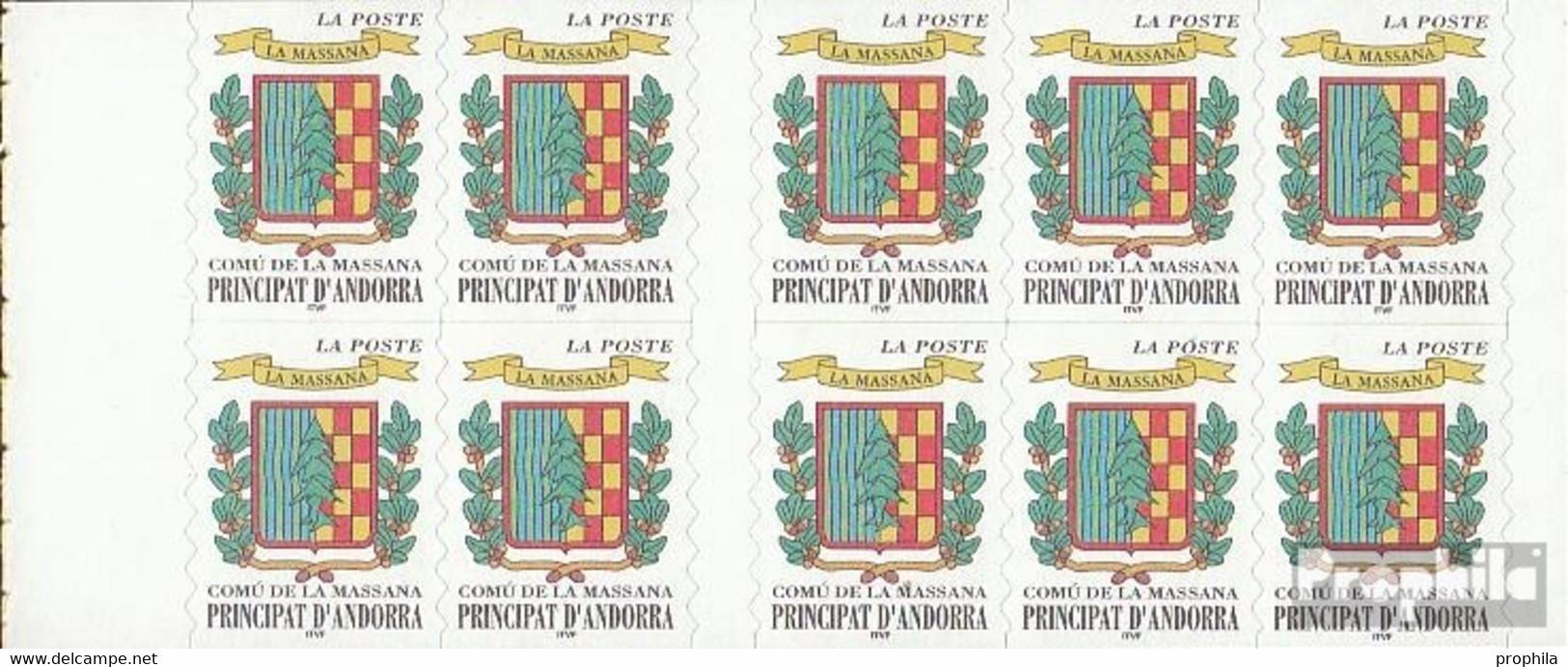 Andorra - Französische Post MH0-9 (kompl.Ausg.) Postfrisch 1999 Freimarken: Wappen - Carnets