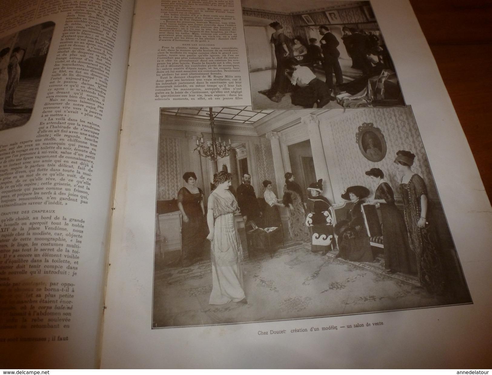 1910 L'ILLUSTRATION:Crue De La SEINE;Suffren Coupé En 2 à Boulogne;TOLSTOÏ;Salon De La Mode;Grahame White En Biplan;etc - Journaux - Quotidiens
