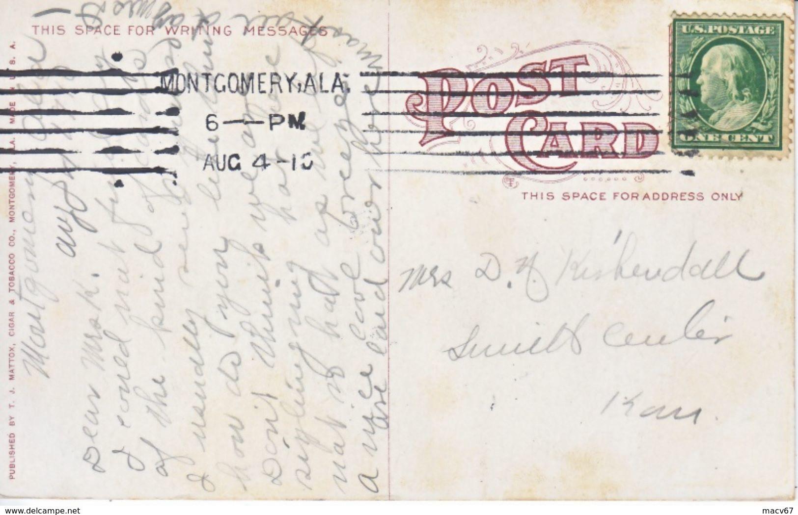 BLACK  AMERICANA  MONTGOMERY, ALA.  1910  PICKANINNIES  WATERMELONS - Black Americana
