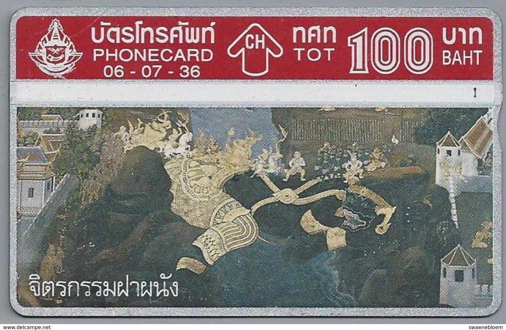 TH.- THAILAND. Phonecard. - 06-07-36 -. 100 BATH. 2 Scans - Thailand