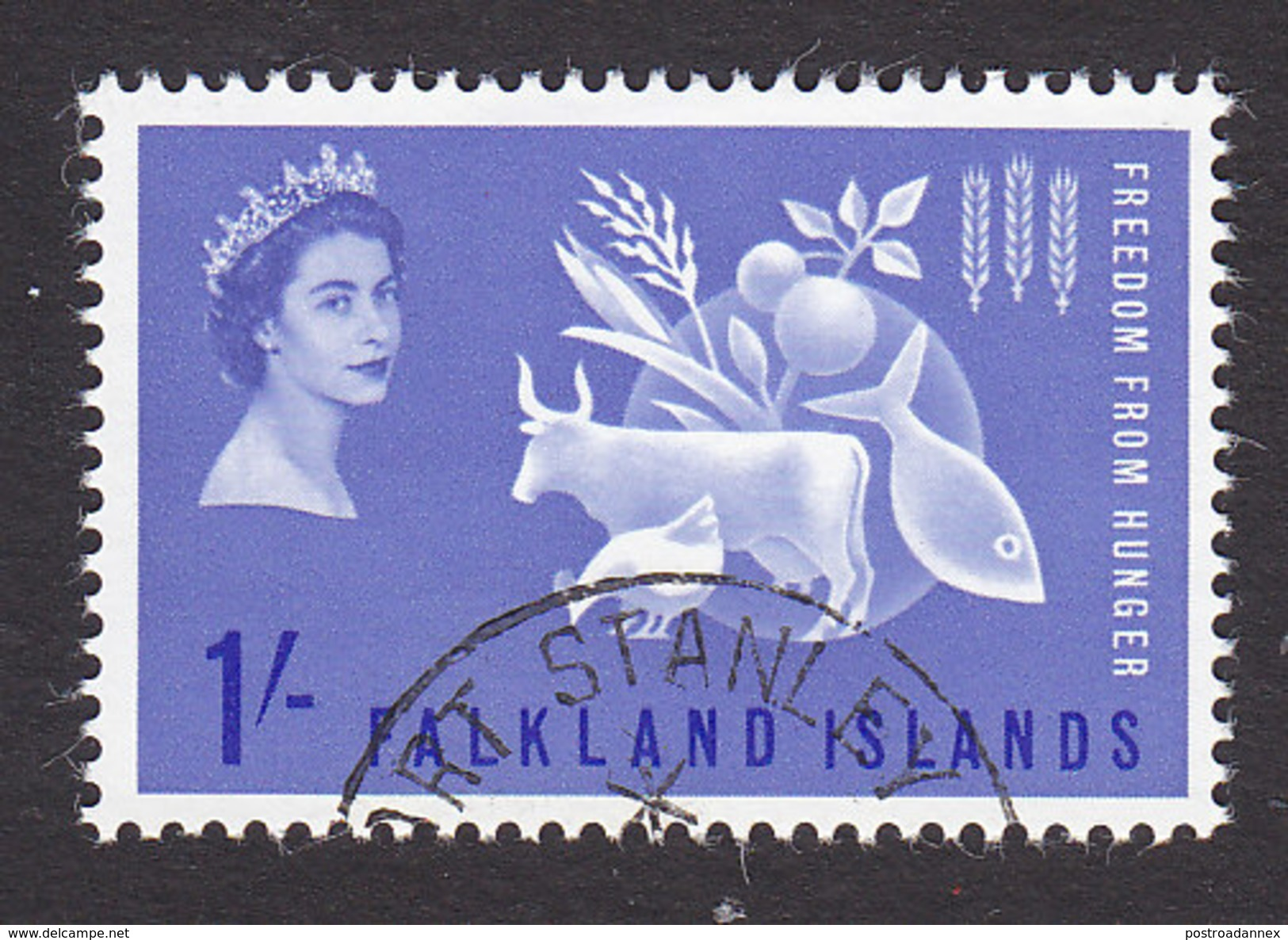 Falkland Islands, Scott #146, Used, Freedom From Hunger, Issued 1963 - Falkland Islands