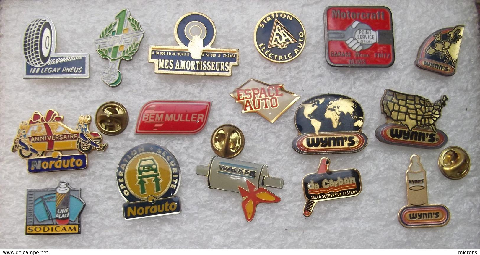 16 PIN' S CENTRE AUTO NORAUTO FEU VERT MOTORCRAFT WYNN'S ............      CCCC   125 - Badges