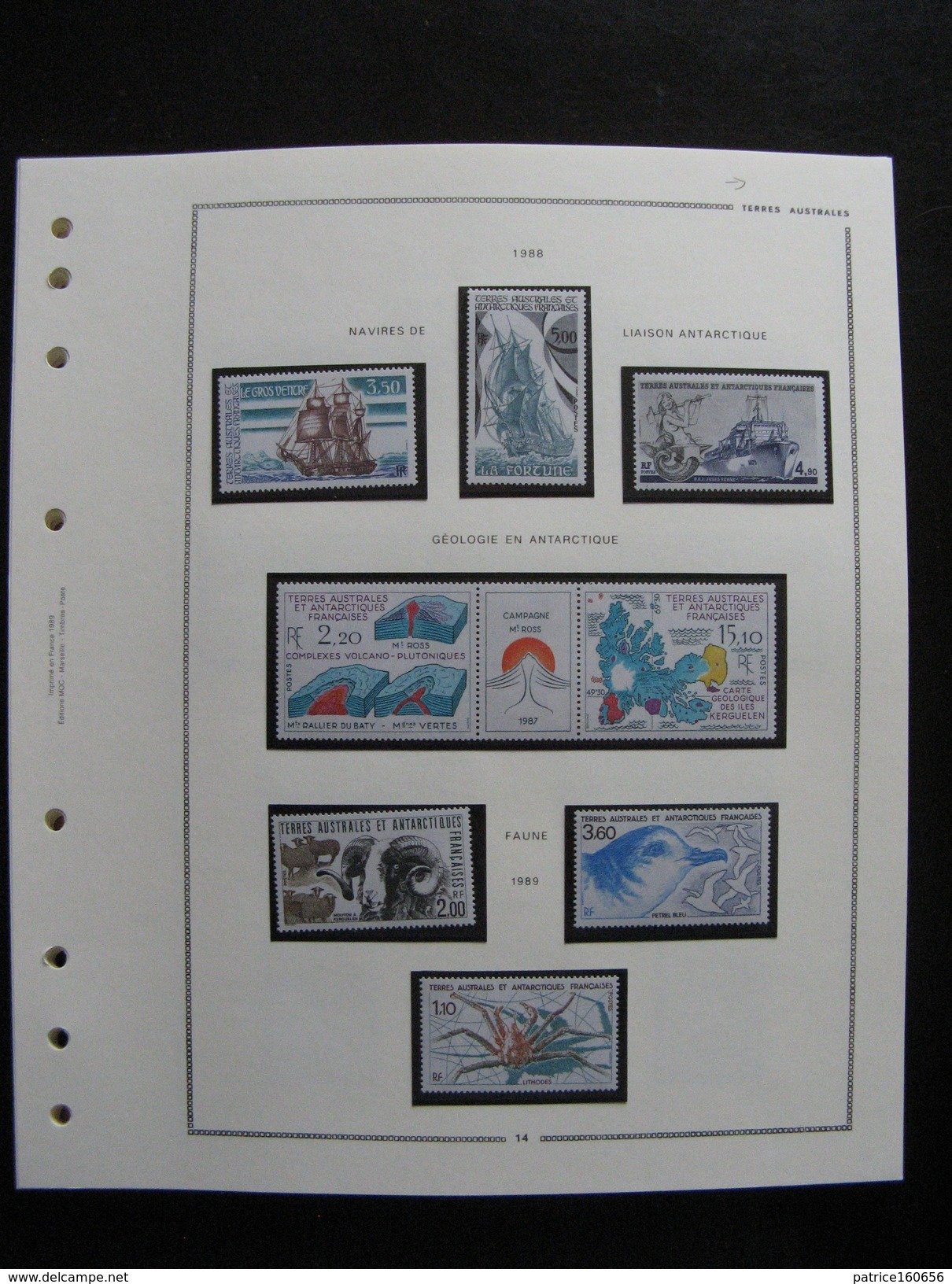 TB Collection De Timbres Des TAAF . Neufs XX Et X, Cote = 3815 € ( Tous Les Timbres Après 1978 Ne Sont Pas Comptés). - Collections (without Album)