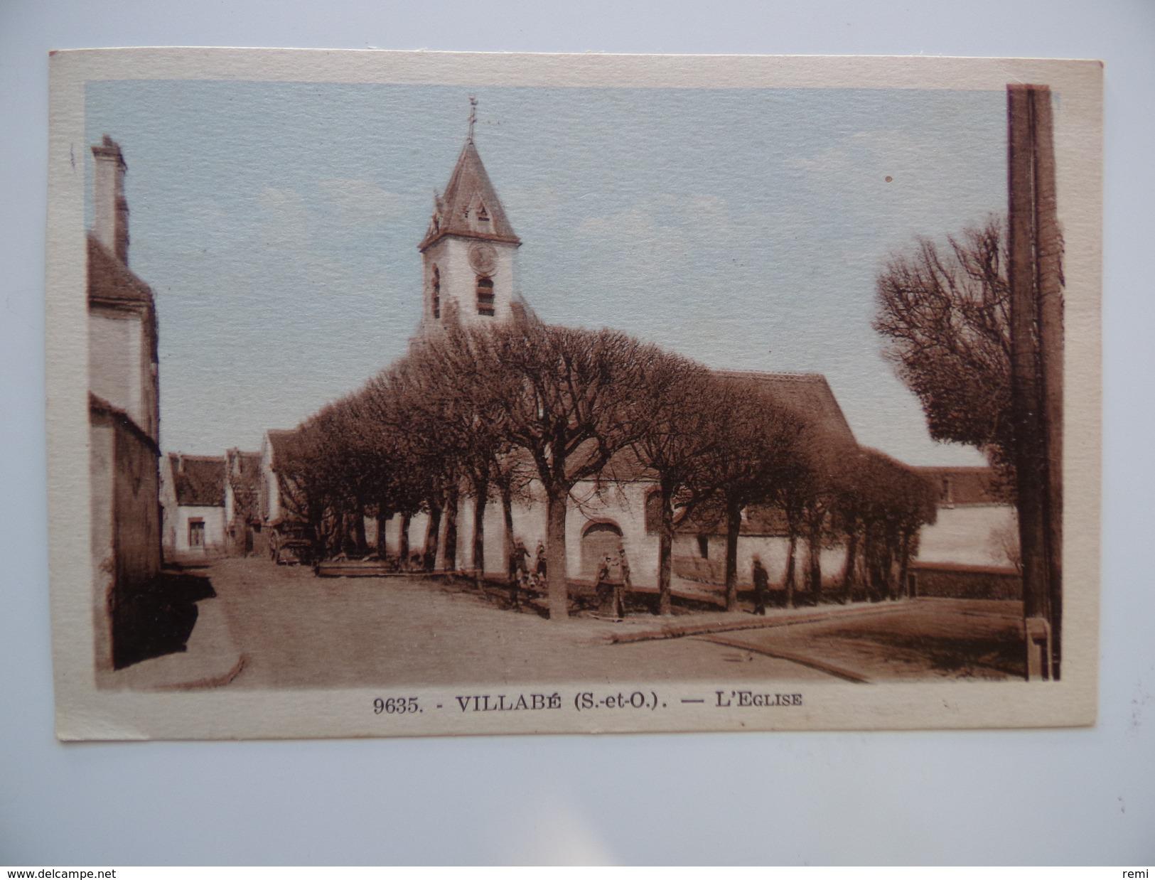 91 VILLABE L'Eglise Colorisée N° 9635 - Other Municipalities
