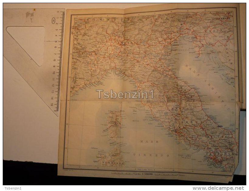 Italy Mare Tirreno Adriatico Map Karte 1908 - Mappe