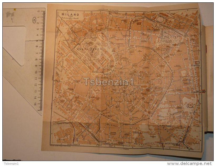 Milano Italy Map Karte 1908 - Mappe