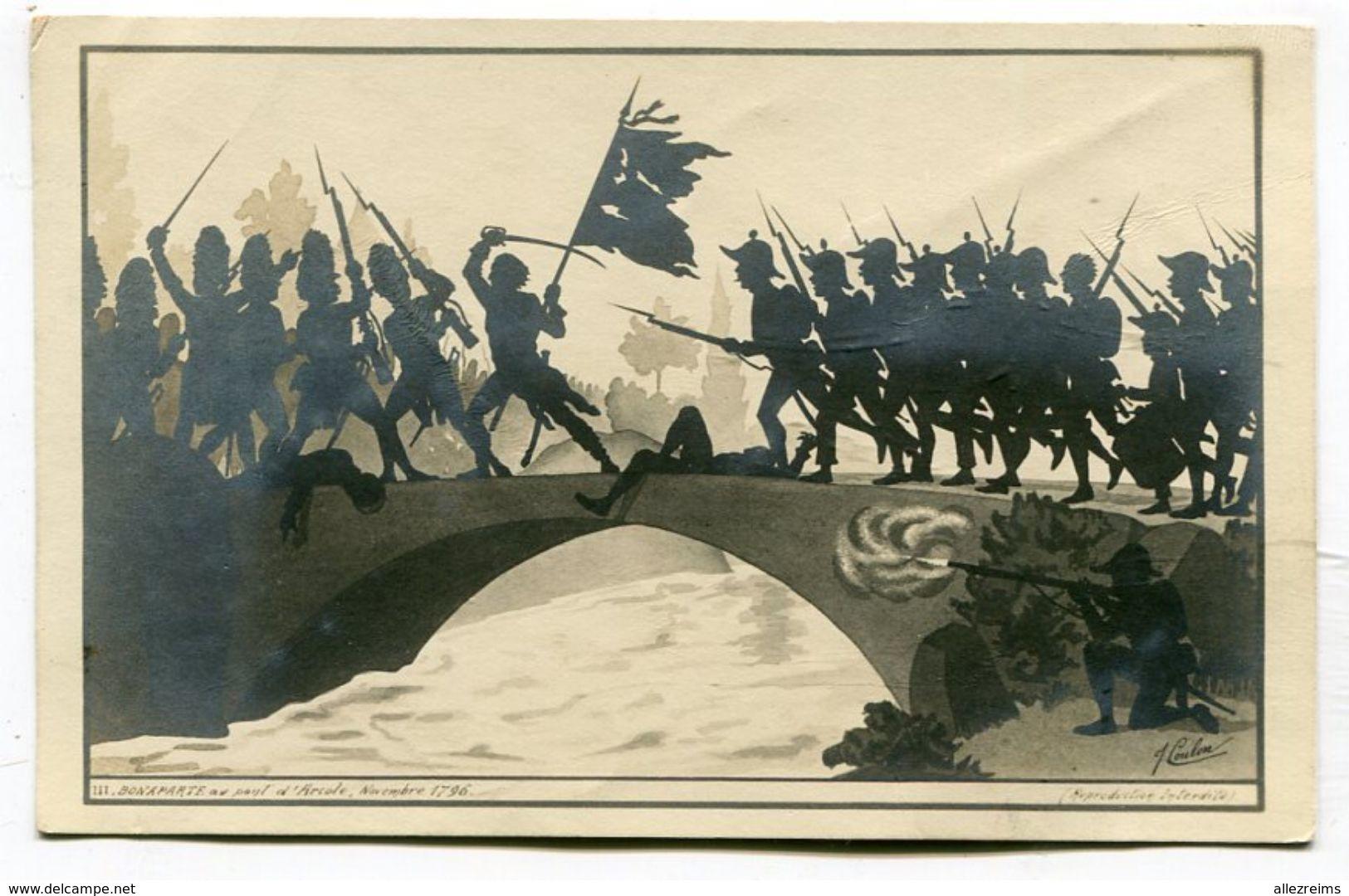 CPA  Célébrité : NAPOLEON   Signé Illustrateur  Coulon 1er Jour A  VOIR  !!!!!!! - Politicians & Soldiers
