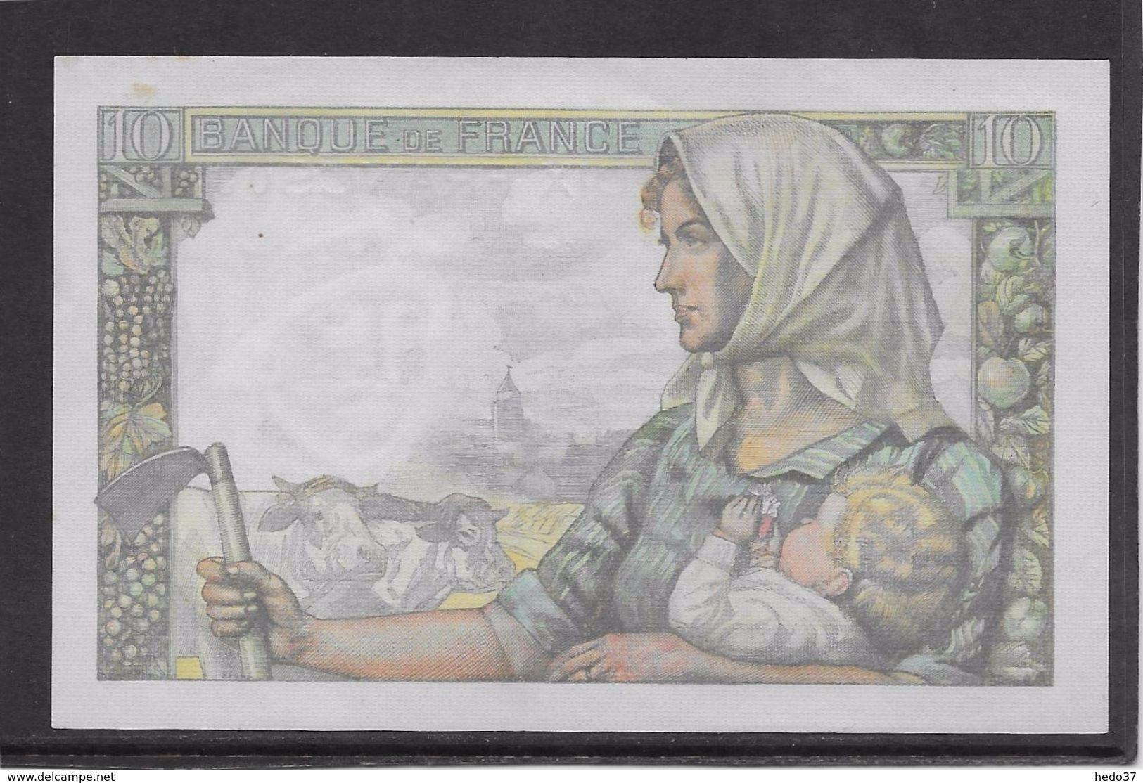 France 10 Francs Mineur 13-1-1944 - Fayette N°8-10 - SPL - 10 F 1941-1949 ''Mineur''