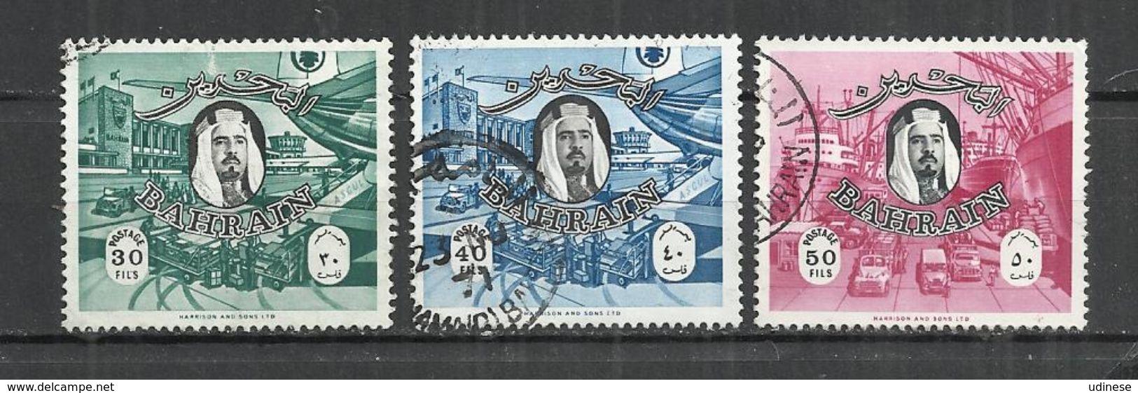 BAHRAIN 1966 - EMIR AND SCENES - LOT OF 3 DIFFERENT - USED OBLITERE GESTEMPELT USADO ( - Bahreïn (1965-...)