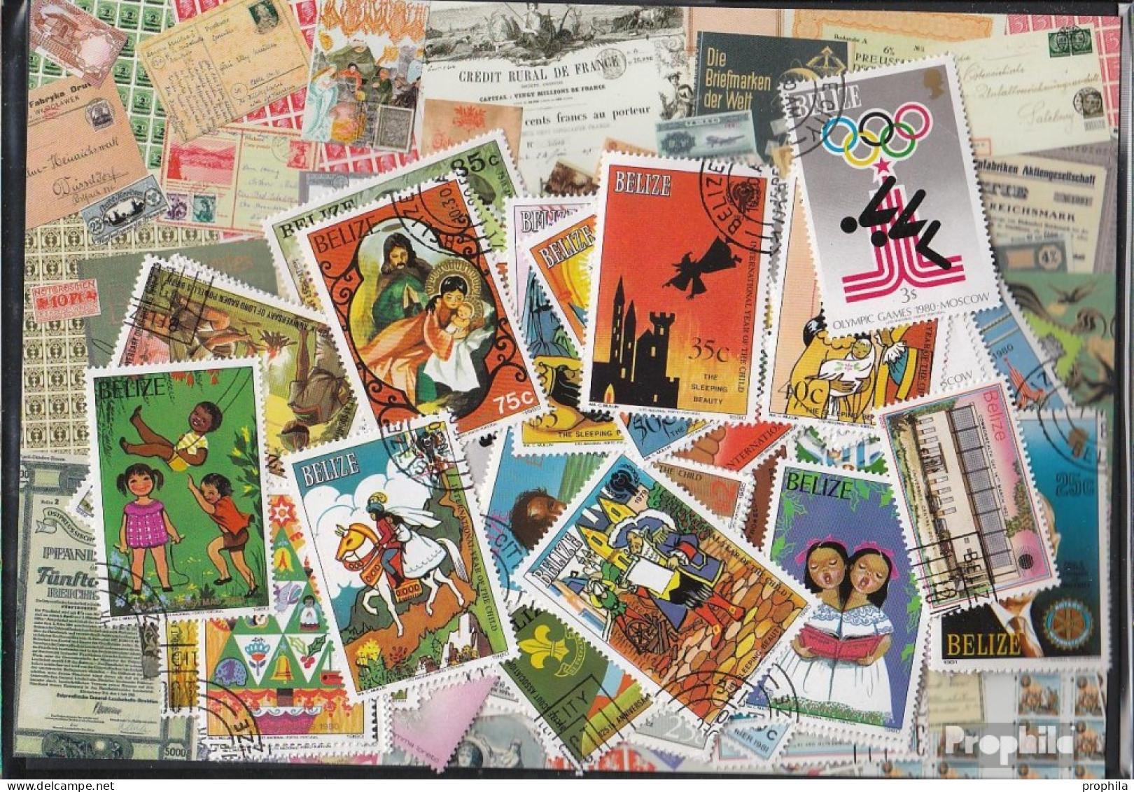 Belize Briefmarken-300 Verschiedene Marken - Belize (1973-...)