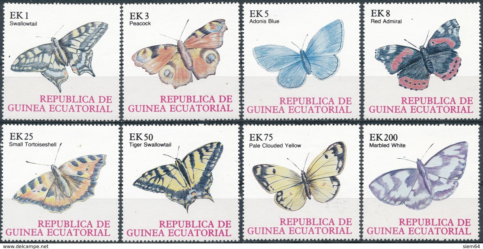 Equatorial-Guinea  Butterflies - Vlinders