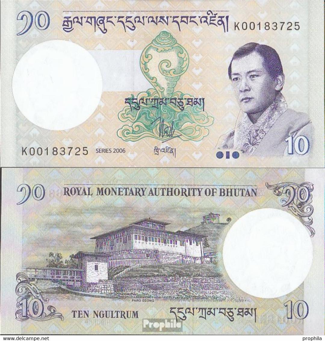 Bhutan Pick-Nr: 29a Bankfrisch 2006 10 Ngultrum - Bhoutan