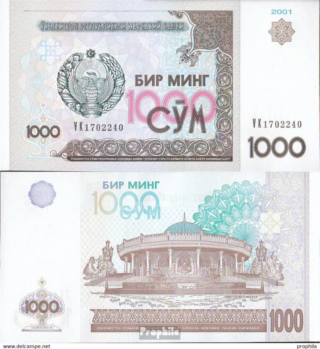 Usbekistan Pick-Nr: 82 Bankfrisch 2001 1.000 Sum - Usbekistan