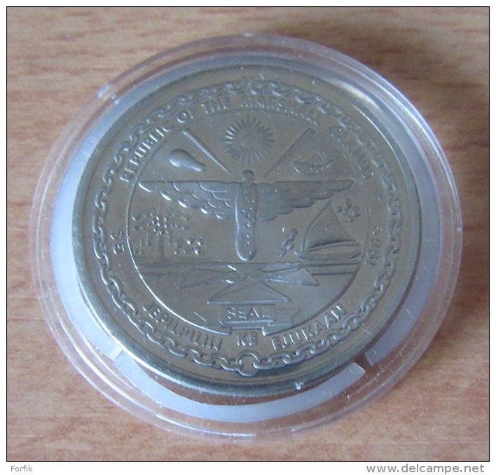 "Marshall Islands / Îles Marshall - 5 Dollars 1989 ""First Men On The Moon"" - Cupronickel - Belle épreuve/proof - Marshallinseln"