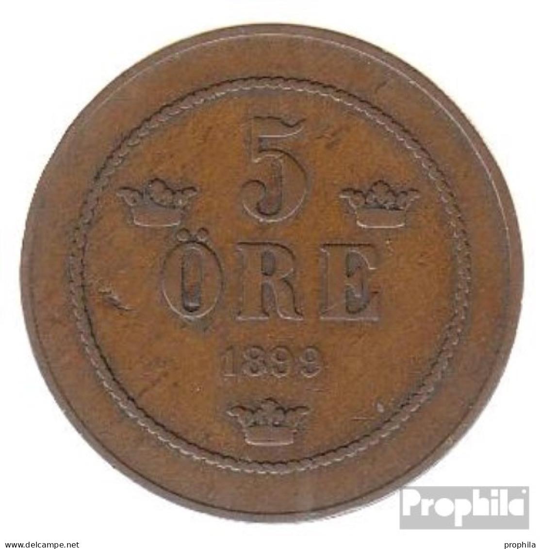 Schweden KM-Nr. : 757 1898 Sehr Schön Bronze Sehr Schön 1898 5 Öre Gekröntes Monogramm - Schweden