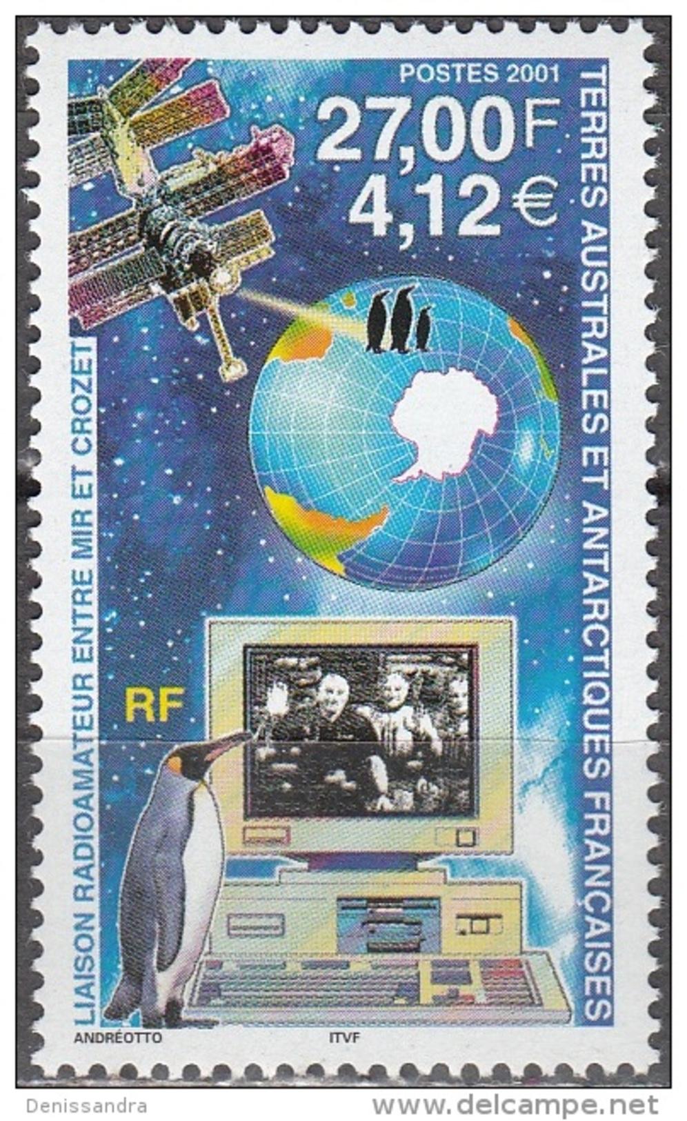 TAAF 2001 Yvert 295 Neuf ** Cote (2015) 14.00 Euro Liaison Radioamateur Entre Mir Et Crozet - Neufs
