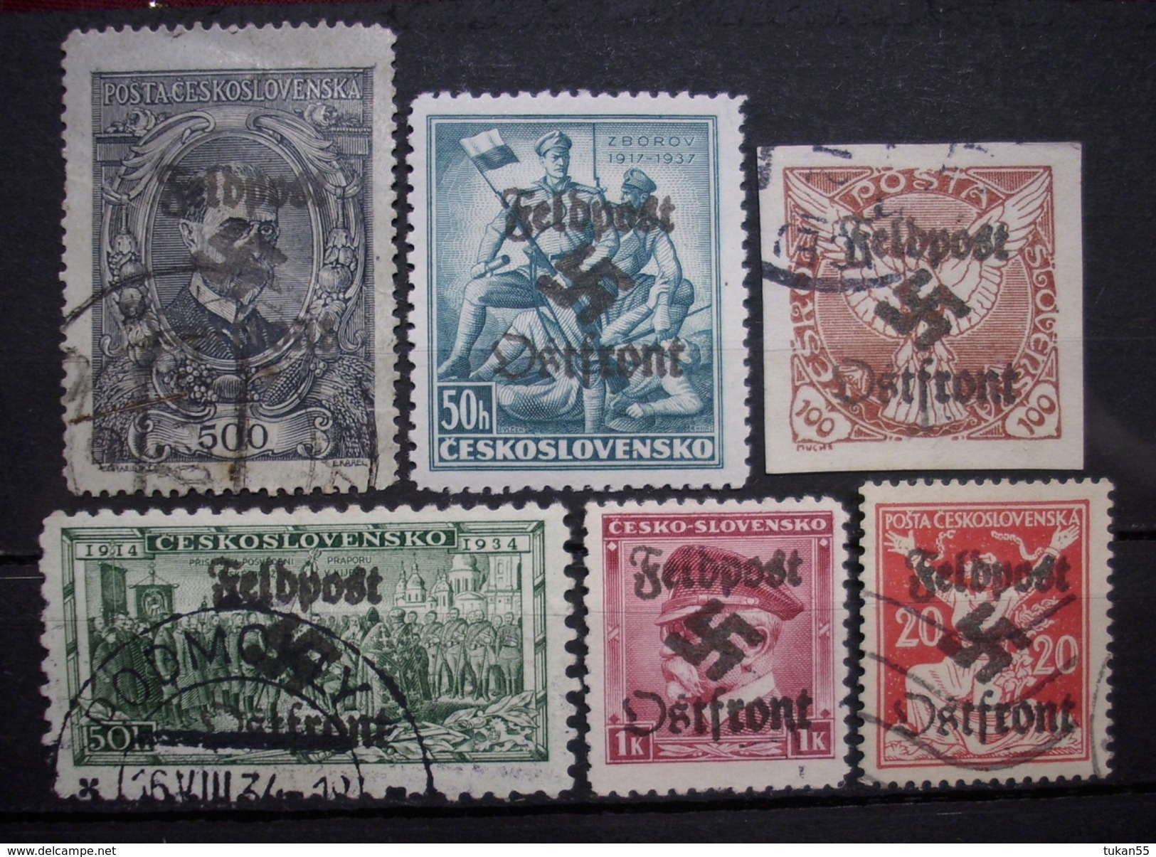 Dt.Reich Occupation Czechoslovakei 1938* Aufdruck Feldpost Ungebraucht & Gestempelt     (R383) - Besetzungen 1938-45