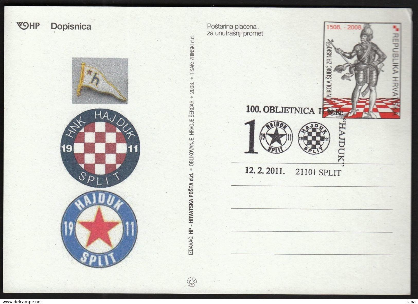 Croatia Split 2011 / 100th Anniversary Of HNK Hajduk / Football - Equipos Famosos