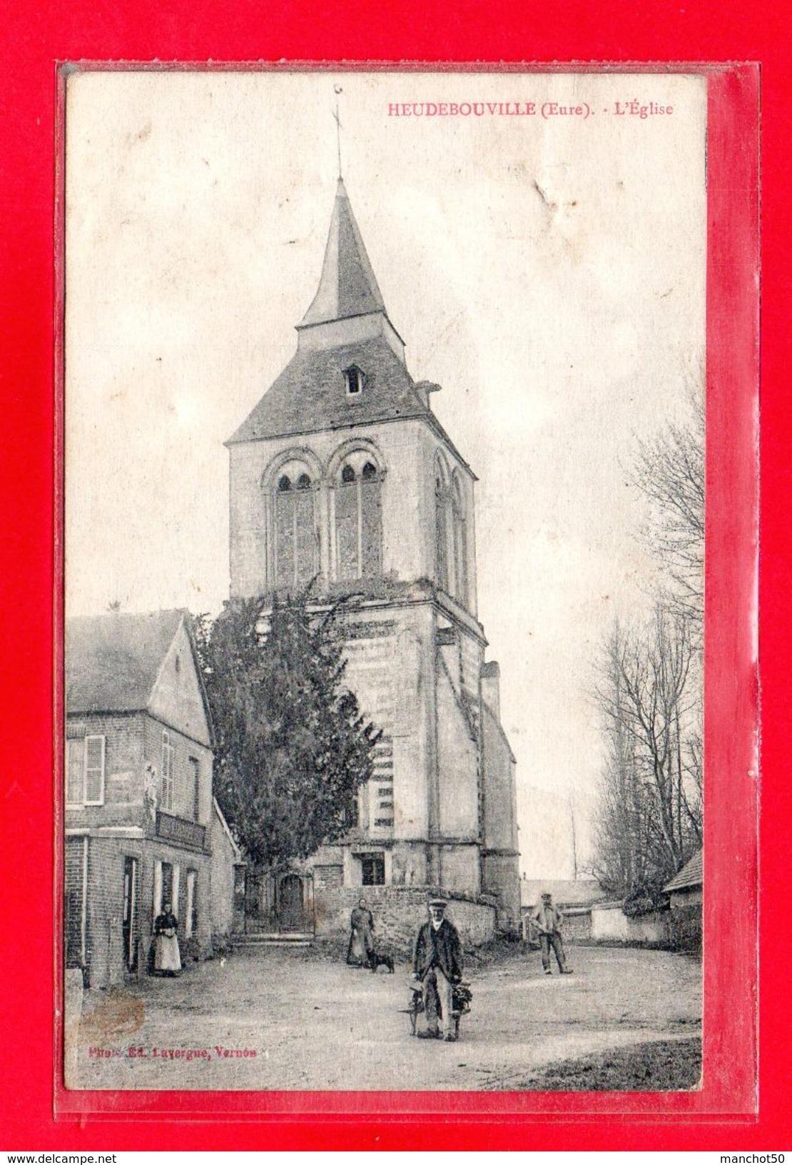 27-CPA HEUDEBOUVILLE - L'EGLISE - (N°2289) - Autres Communes