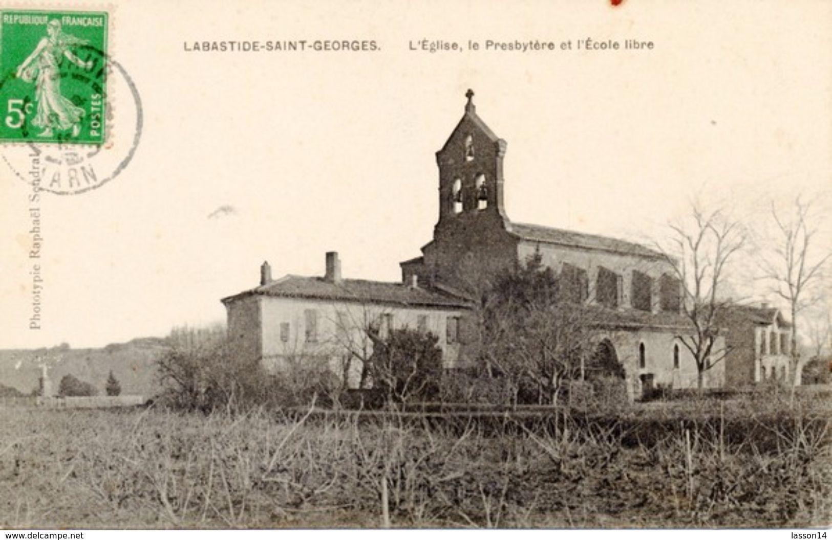 81 La Bastide-Saint-Georges L'église - Lavaur