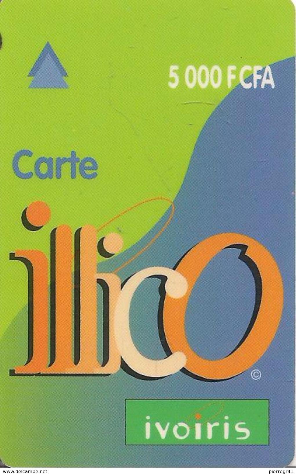 CARTE+PREPAYEE-COTE D IVOIRE-ILLICO-5000F CFA-GRATTE-TBE - Ivory Coast